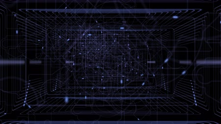 elétron : Slow Flying Inside Data Cyberspace. Abstract Concept of Digital Technologies. Electrons Moving on Communication Lines. 3d animation. UHD 2160 Vídeos