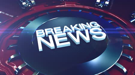hot news : Breaking News intro with a modern style. Stock Footage