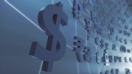 benefício : Currency  Forex  Fintech animation rendered at 16-bit color depth. Stock Footage