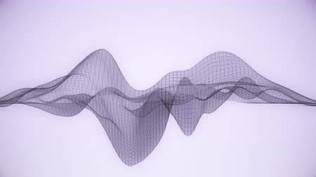 distorção : Abstract wireframe  lines looped in a wave pattern.