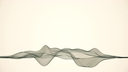 movements : Abstract wireframe  lines looped in a wave pattern.