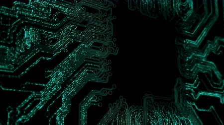 entegre : Abstract circuit board animation. 4K UHD.