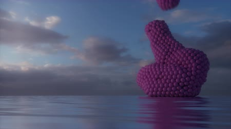 goop : Absurdist abstract animation featuring pink goop falling from the sky. 4K UHD animation rendered at 16-bit color depth.
