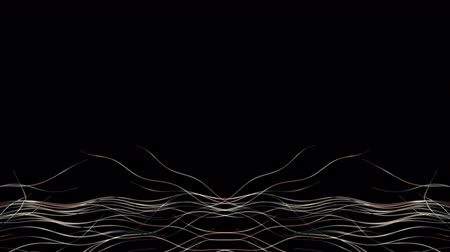 fejlődik : Abstract Wavy Lines. 4K UHD animation with copy space.