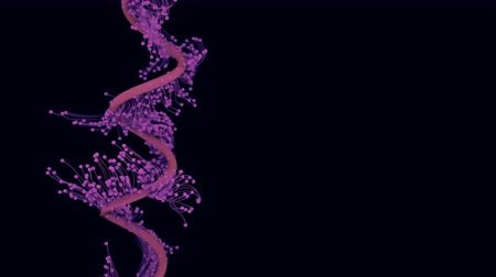 imagem : Abstract particles with trails. 4K UHD animation. Gene therapy theme.