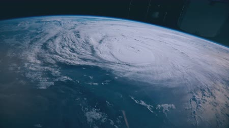 всплеск : Hurricane Harvey hours before making landfall in Texas on August 25th, 2017. Broadcast quality animation rendered at 16-bit color depth. (Elements furnished by NASA)