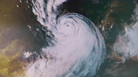 spying : A massive hurricane churning in the ocean. 4K broadcast quality file. Stock Footage