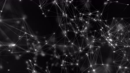astroloji : 4K Point Mesh Network. Seamless looping animation.