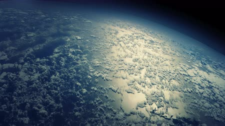 climate : Flying over the Earths clouds. 4K animation with realistic cloud displacement.