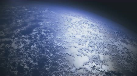 powódź : Flying over the Earths clouds Wideo
