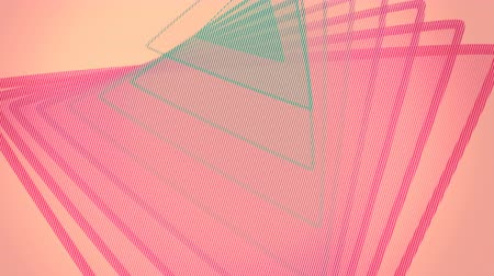 bez szwu : Abstract offset triangle animation. 4K seamless loop.