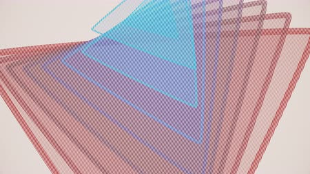 pyramida : Abstract offset triangle animation. 4K seamless loop.