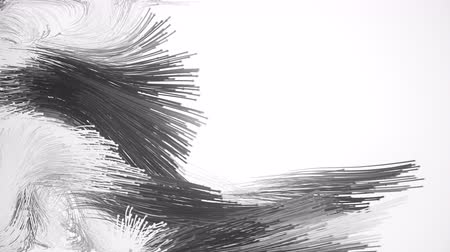 plemniki : Animation depicting hundreds of abstract particles with tails. 4K UHD fooatge.