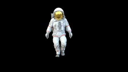 aeroespaço : Highly realistic animation of an astronaut walking towards camera.