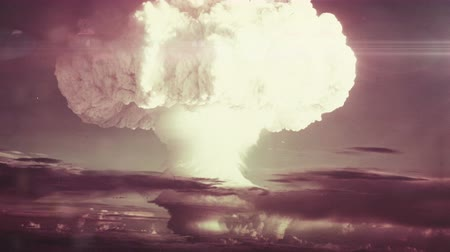humanidade : A Nuclear Detonation. Realistic animation