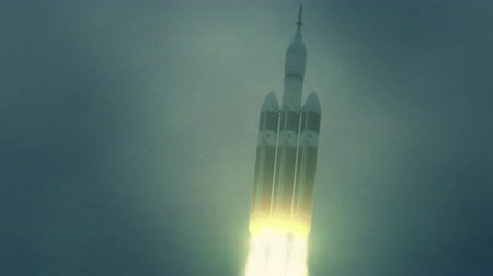 exploration : Orion Spacecraft shortly after launch. 4K UHD.
