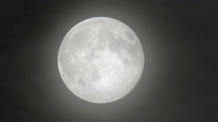 kuzey amerika : View from North America of a supermoon Stok Video
