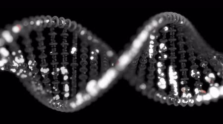 nanotechnologia : DNA editing concept. 4K UHD animation Wideo