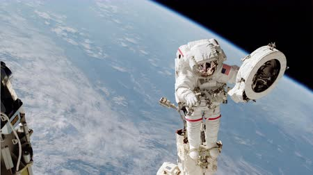 roka : 4K NASA Cinemagraph Collection - Spacewalk. Seamless loop.