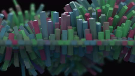 概念 : 4K Abstract Cubic Mesh. Seamless looping