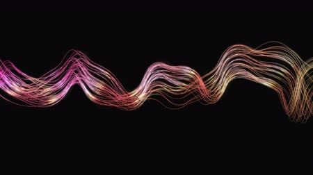 gracioso : 4K Abstract Wavy Lines. Seamless loop