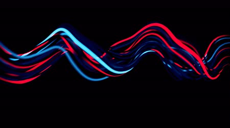 gracioso : 4K Abstract Neon Wavy Lines. Seamless loop Vídeos
