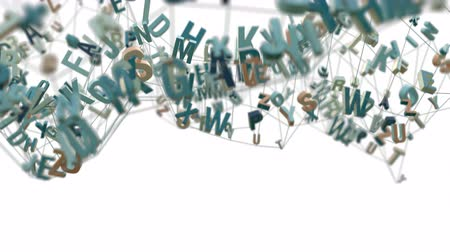 ortografia : 4K Alphabet Letters. 3D Animation. Seamless Looping Stock Footage
