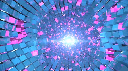 hallucination : 4K Abstract Glittering Tunnel. Seamless Loop Stock Footage
