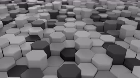 hexagon pattern : 4K Abstract Honeycomb Grid. Technology background. 3D Animation