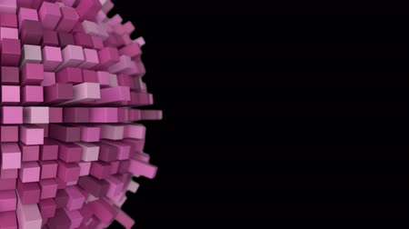 facets : 4K Abstract Technology Sphere. 3D Animation. Seamless Loop