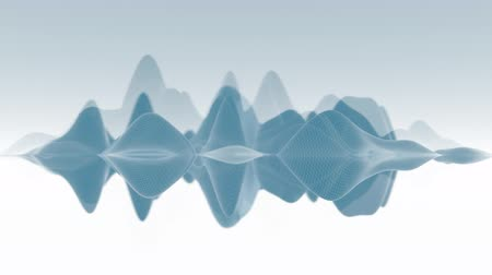 undulating : 4K Abstract Undulating Waveform. Seamless Looping Stock Footage