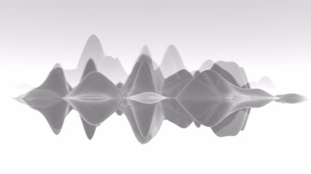 nanotechnology : 4K Abstract Undulating Waveform. Seamless Looping Stock Footage