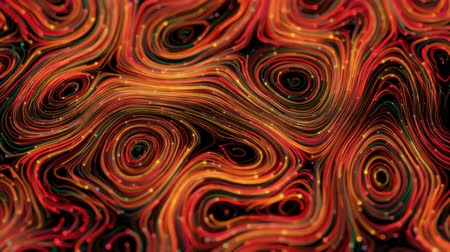 forma : 4K Abstract Neon Swirls. Seamless Looping Background.