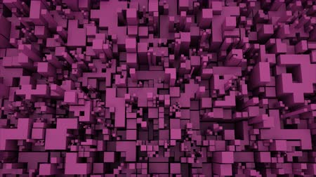 dlaždice : 4K Abstract Technology Cube Background. Seamless Looping