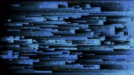 tuned : 4K Abstract Glitch LED Background. Seamless Loop. Stock Footage
