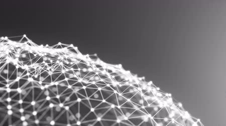 kibertérben : 4K Abstract Network Landscape. Seamless Loop