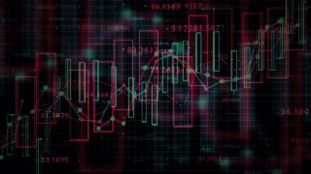 economical : 4K Financial Data Concept. Seamless loop Stock Footage