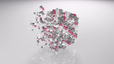 blocos : 4K Abstract Cubic Network. Seamless loop