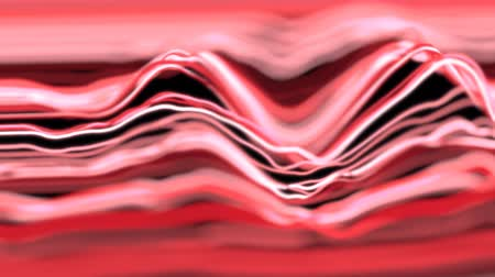 zkreslení : 4K Abstract lines in a wave pattern. Seamless loop.