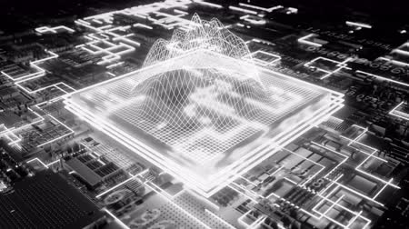 integrado : 4K Futuristic CPU. Seamless loop Stock Footage