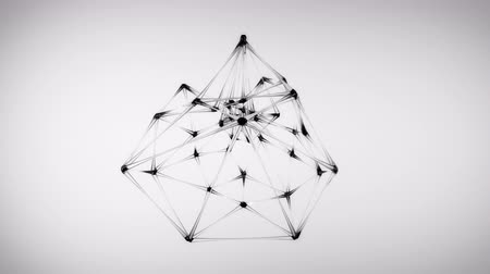 atomový : 4K Abstract Glass Molecular Structure. Seamless Loop.