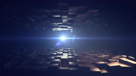 技术 : 4K Abstract Cubic Background. Seamless loop