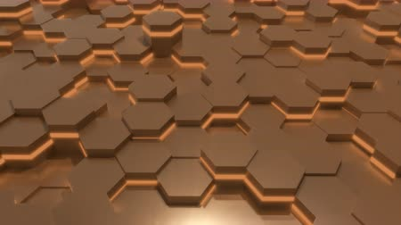 extrude : 4K Abstract Tech Honeycomb Grid. Seamless loop