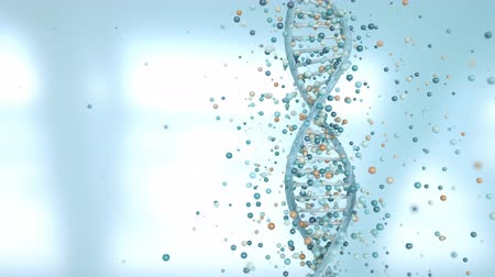 nanotechnologia : 4K DNA Gene Editing Concept. 3D Animation.