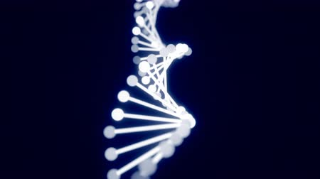 rendered : 4K Abstract DNA Helix. Seamless loop
