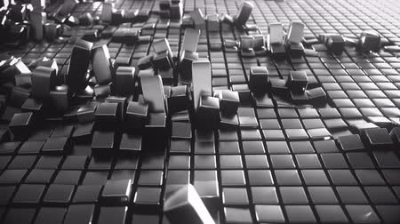 кафельный : 4K Organically displaced cubes in a grid. Seamless loop.