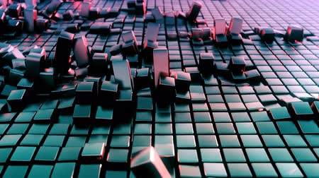 aluminium : 4K Organically displaced cubes in a grid. Seamless loop.