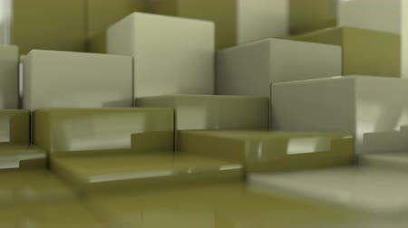extrude : 4K Organically displaced cubes in a grid. Seamless loop.