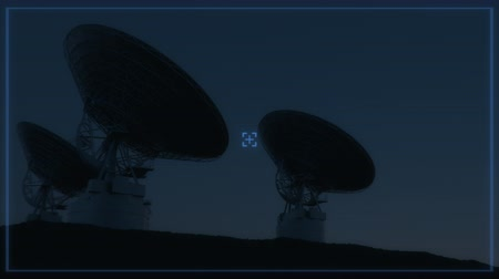 teleskop : 4K Radio Telescopes in Sync. (Elements furnished by NASA.) Realistic 3D CGI Animation.