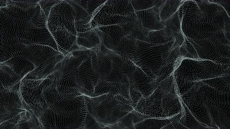 bez szwu : 4K Abstract Turbulent Grid. Seamless loop